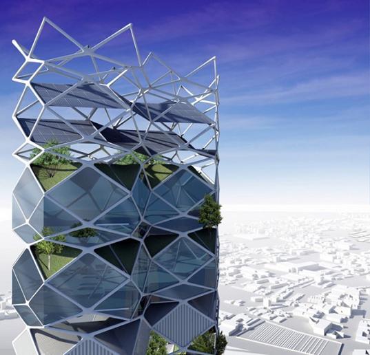 sustainable design, green design, mexico city, vertical park, solar power, hernandez de la garza, green building, sustainable architecture