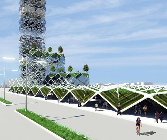 sustainable design, green design, mexico city, vertical park, solar power, hernandez de la garza, green building, sustainable architecture