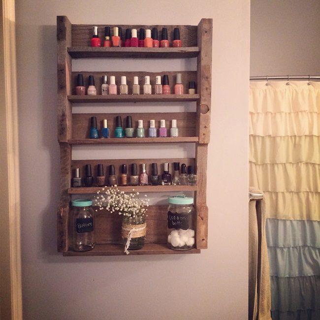 10 diy racks for nail polish display
