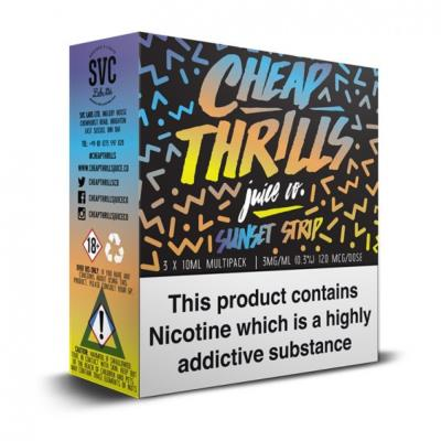 Sunset Strip - 3 x 10ml TPD Compliant Multipack by Cheap Thrills