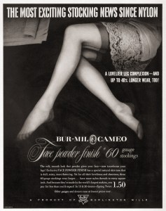 cameo-burlington-mills-nylon-stocking-advertisement-1951