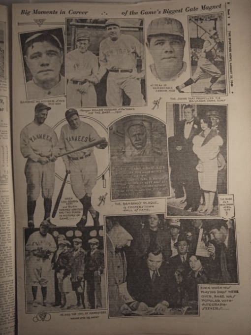 A montage of Babe Ruth photos