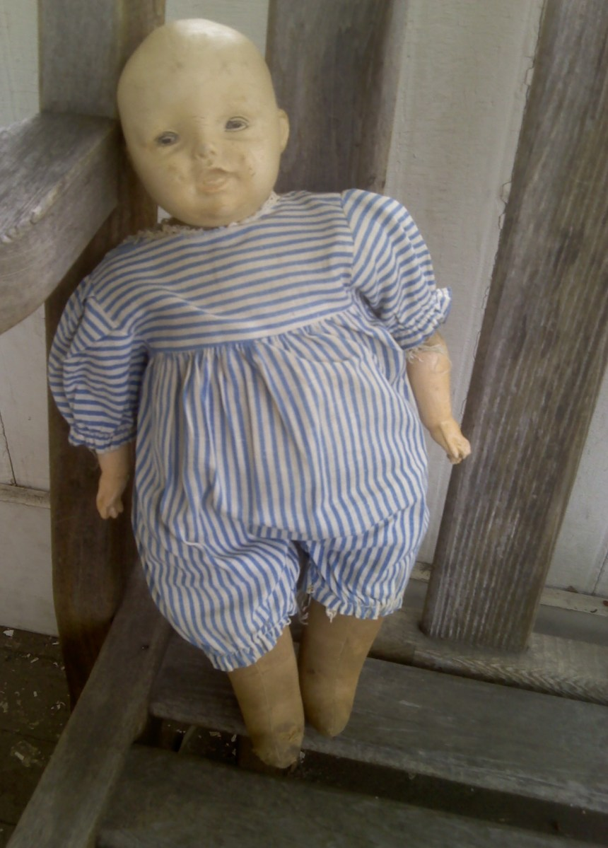 The Charming Face & Feet Of An Antique Horsman Doll