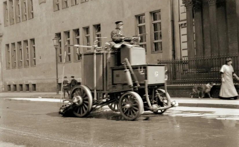 Antique Street Sweeper Photograph