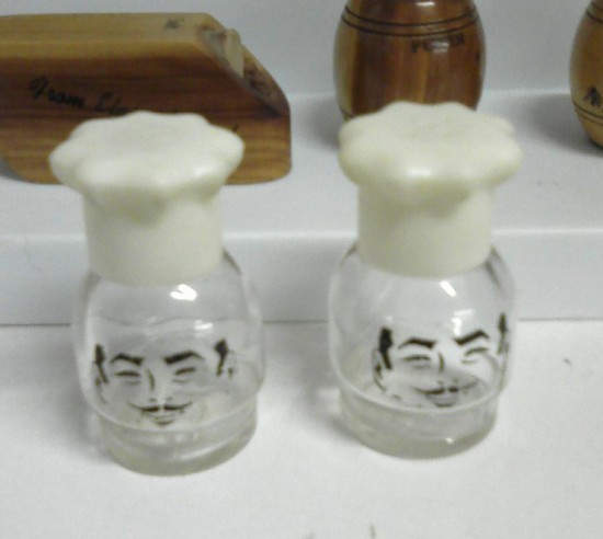 Vintage Glass Chef S&Ps