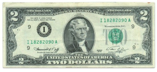 1976 two-dollar bill