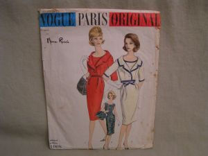 Vintage Vogue Paris Originals Pattern, Nina Ricci