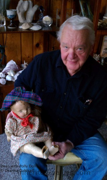 My Dad With Polly Dolly - Click The Photo For The Full Story