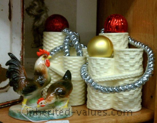 vintage collectibles dressed for the holidays