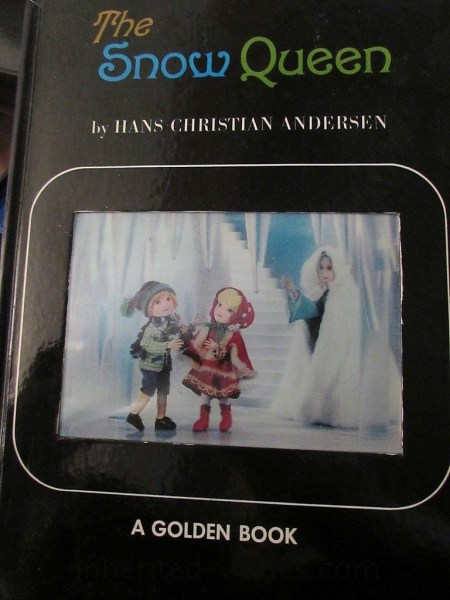 RARE 1st Cover Snow Queen Child IZAWA SHIBA PRO GOLDEN Book 1968 PUPPET 1 ED 3D