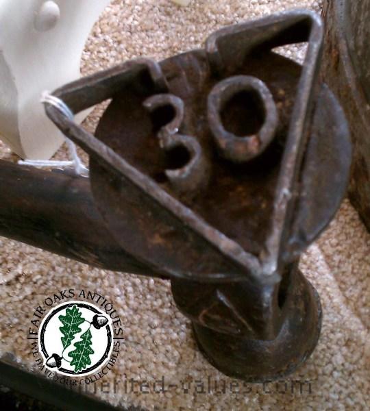 antique logging stamp hammer