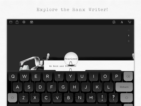 hanx writer typewriter app