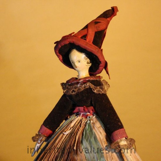 antique witch fortune telling doll