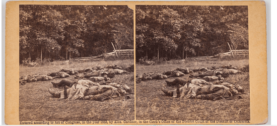 civil war death stereoview