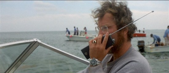 dreyfuss as hooper in jaws wearing watch