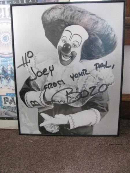 signed joey bozo photo