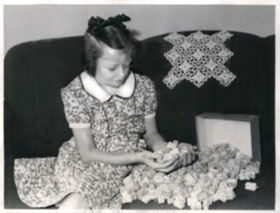 Dorothy Hess With Tobacco Coupons