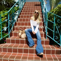 Nikole Powers, Miami Blogger, Miami Fashion Blogger, Guess bellbottoms, Guess Jeans, In high Demand Blog, Guess Girl, Boho photoshoot