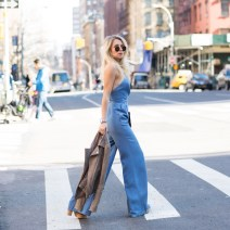 Nikole Powers  Lovers and Friends Chambray Jumper  Miami Fashion Blogger