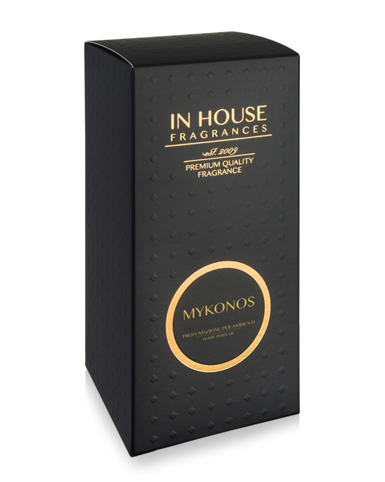 Mykonos - Diffusore vetro 500ml scatola - In House Fragrances Premium