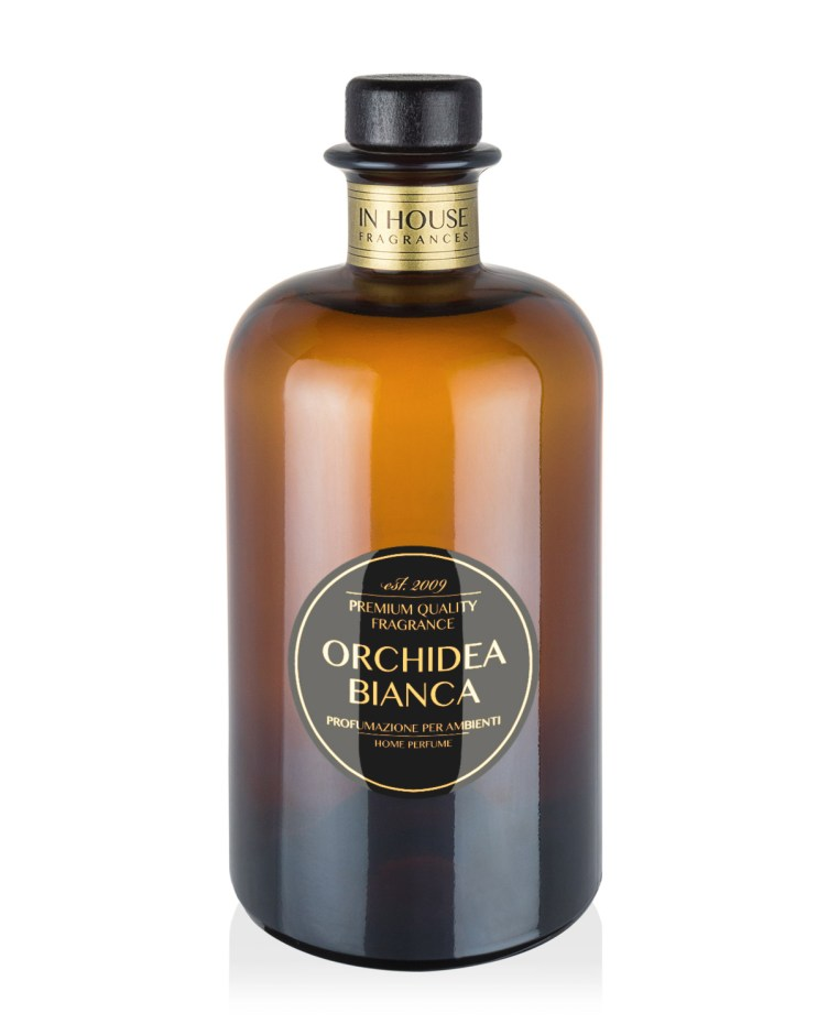 Orchidea Bianca - Diffusore vetro 500ml - In House Fragrances Premium