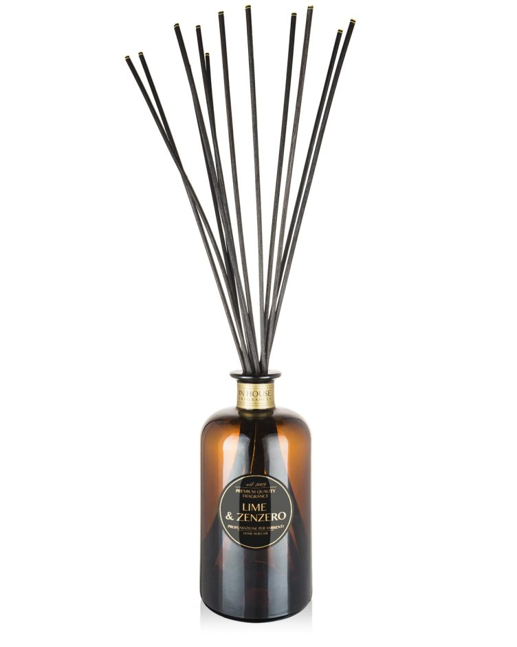 Lime Zenzero - Diffusore vetro 500ml midollini - In House Fragrances Premium