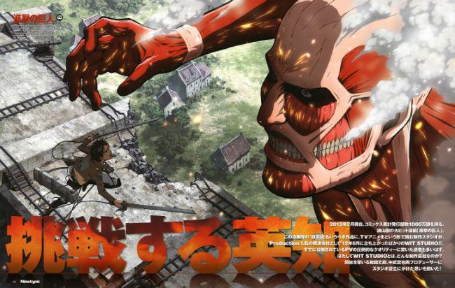 Shingeki-no-Kyojin Cara a cara com o Titã Colossal!
