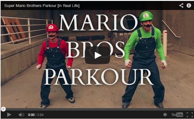 Os irmãos Mario em um Parkour de verdade!