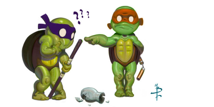 TMNT_DONNY_AND_MIKE_by_FUNKYMONKEY1945