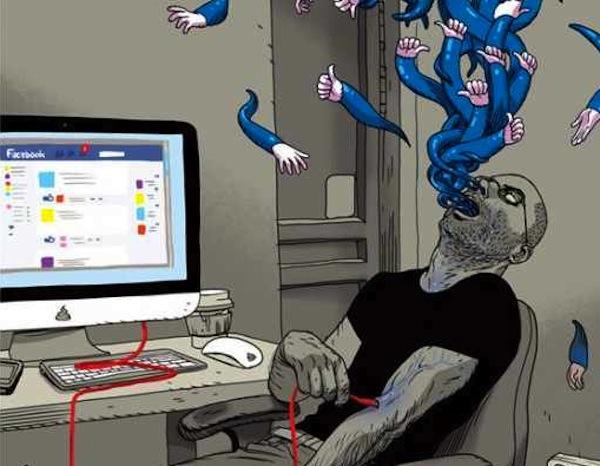 """El """"Likecoholic"""" del dibujante de comics Asaf Hanuka"""