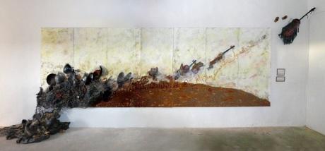 Obra Síntesis del grupo Metasíntesis en Artifariti 2007