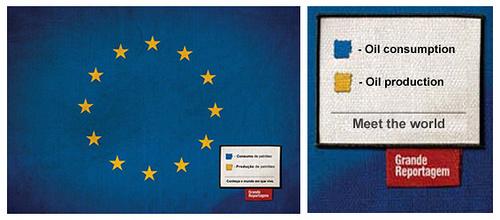 Bandera de la EU en Revista Grande Reportagem