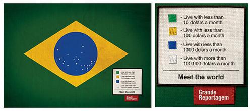 Bandera brasileña en Revista Grande Reportagem
