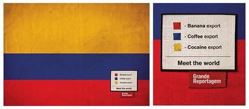 Bandera de Colombia en Revista Grande Reportagem