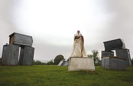Stonehenge de Banksy en Glastonbury