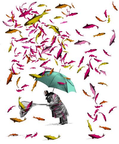 Obra Lloviendo peces de Brett Ryder