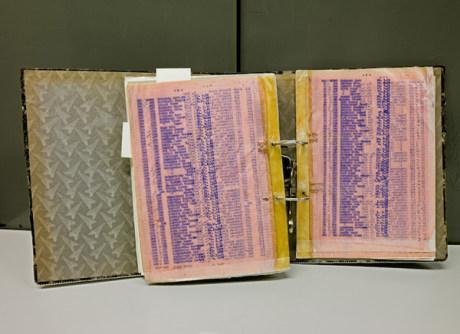 Imagen de la lista de Schindler en el archivo de Bad Arolsen realizada por Richard Ehrlich