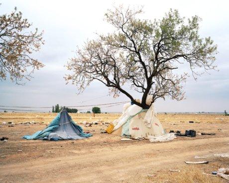 Fotografía de la serie Inmigrantes ilegales en España de Henk Wildschut