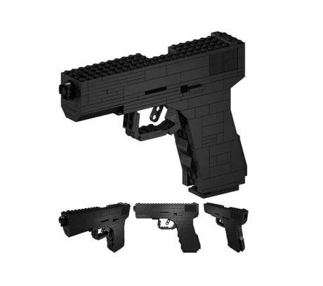 Imagen de una Glock 17 hecha con Lego