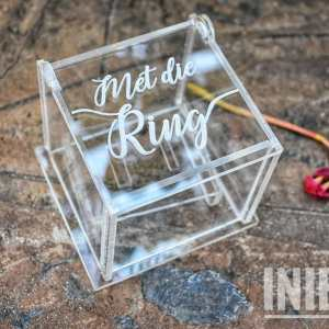 Acrylic Ring box