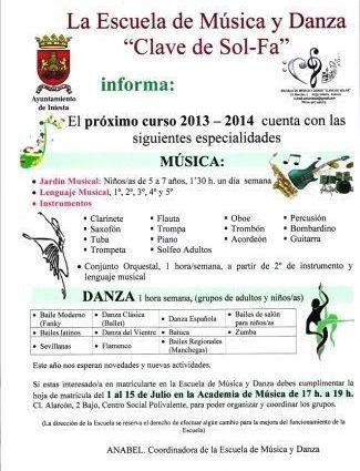 matriculacin musical 2013