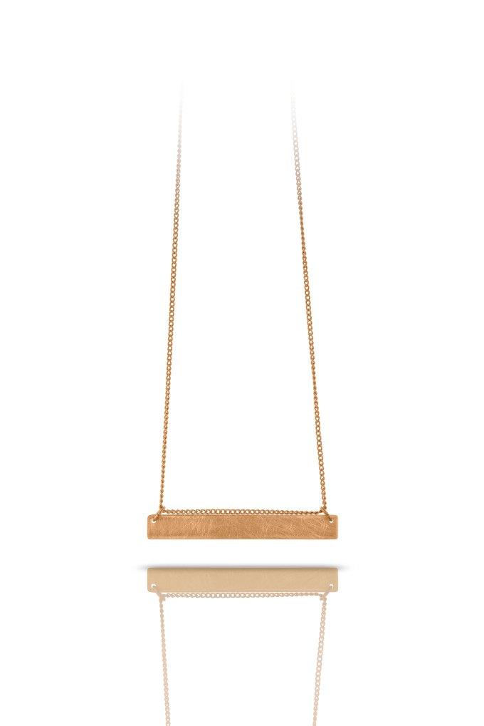 horizontal copper mini necklace