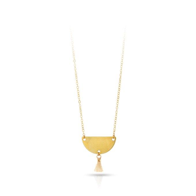 Brass mini tassel necklace