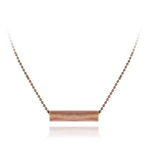 Basic short copper tube necklace