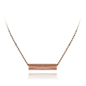 Basic short copper tube necklace