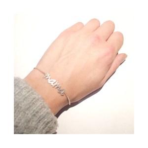 Handgezaagde armband sterling zilver