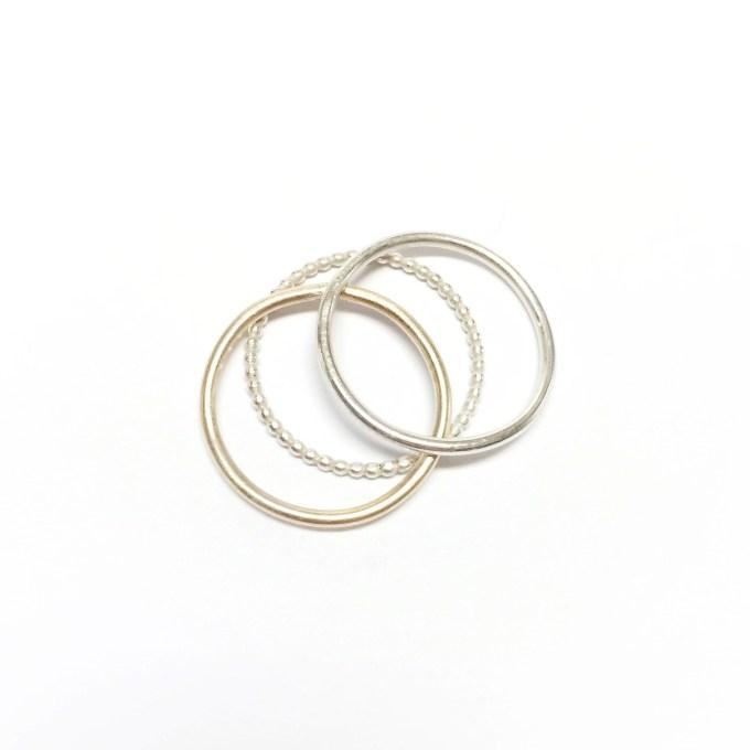 Minimal ring set• sterling silver