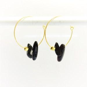 Gemstone Hoops black