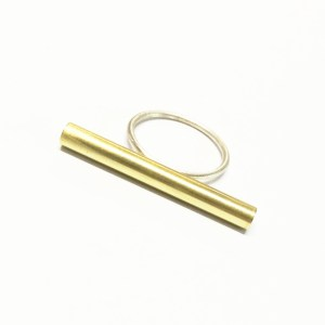 Sterling silver mixup tube ring