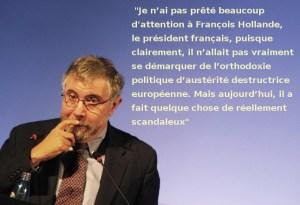 Krugman Nobel d'économie fustige le virage libéral de Hollande